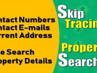 I will do skip tracing for real estate business