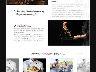 Website Design -- MT Restaurant