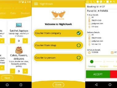 Night Hawk (Courier Delivery App)