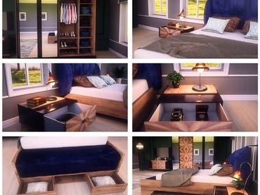 "3D Interior Design & Animation - Project ""FELICITY"""