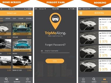 Car Rental app (Android and ios App )