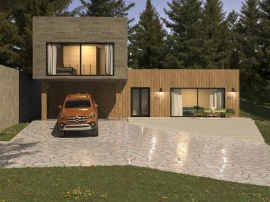 Villa ,3ds max - Corona render