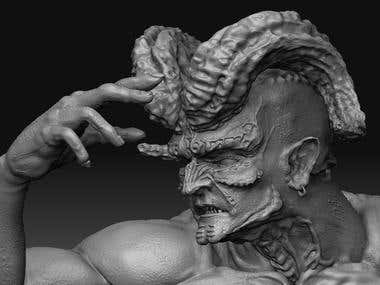 Beelzebub 3D character model