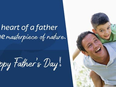 Banner for Father's Day.