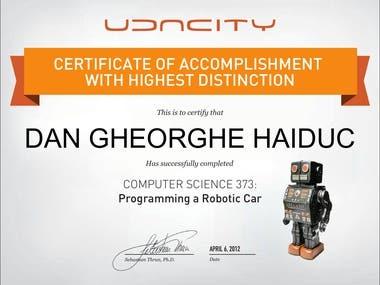 Udacity CS373 - Programming a robotic car