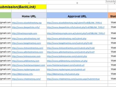 Directory Submission (Backlink)
