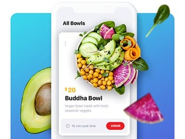 UI/UX for Healthy food delivery app