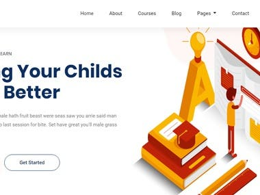 Website made by HTML5 and CSS