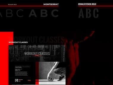 Gym web design