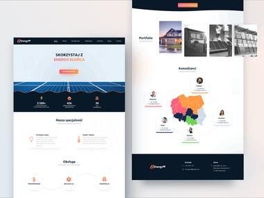 EnergyRe - website and logo redesign