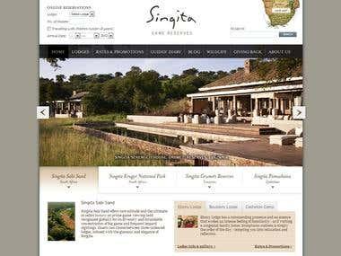 Singita Admin section enhancement
