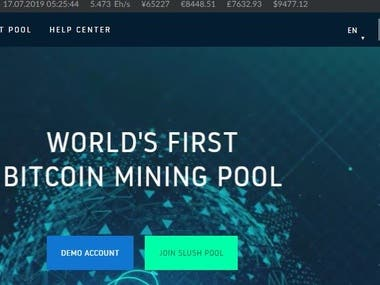 Mining Pool Setup and Development
