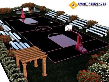 3d Basketball park
