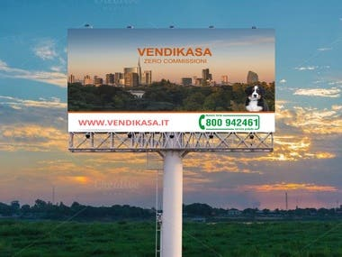 Design an advertising billboard 2-01