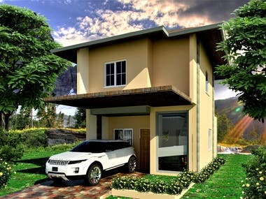 two storey simple house