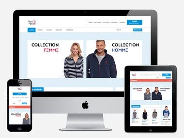 Prestashop e-commerce website.