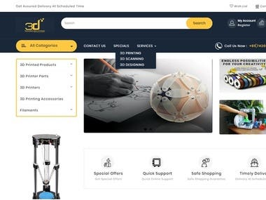 E-Commerce website (3D Techno Solution)