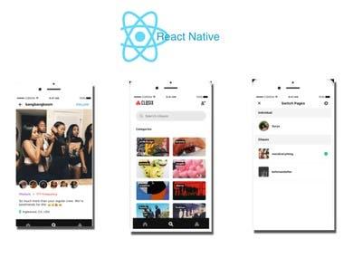 Social App (React Native)