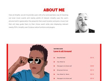 Audio Music Website
