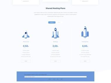 Website for a hosting company