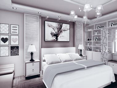 Villa bedrooms interior design