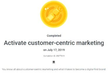 Activate customer centric Marketing,