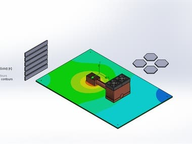 Air cooling sys - 3D model & simulation