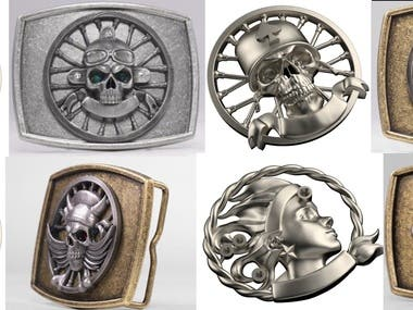 Bikers buckles made for metall mass production