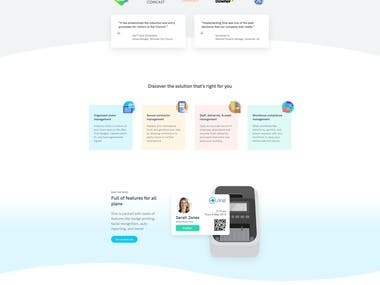 Sine WordPress Website