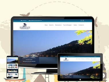 Custom Travel website