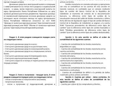 RUSSIAN-SPANISH. Financial Order of Countability