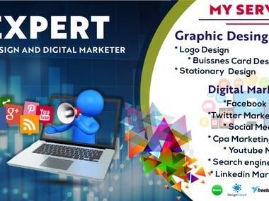 i am unique logo designer and digital marketer.