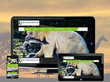 Adventure Website in Wordpress