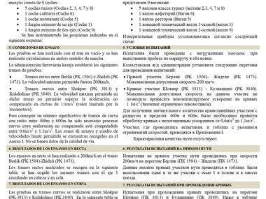 SPANISH-RUSSIAN. Train Dynamic Test Report