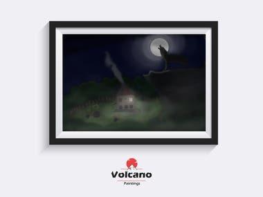 Painting - Foggy Night