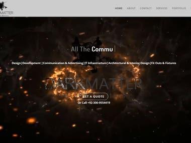 Logo Design & website for an IT company called DarkMatter.pk