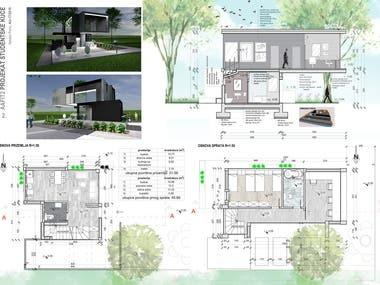 presentation - arch portfolio - photoshop, autocad, sketchup