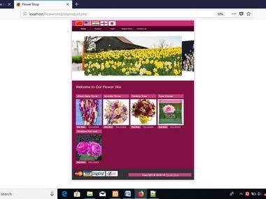 web site for flower shop.