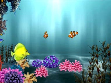 3d animation of fish