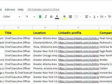 Linkedin Sales Navigator scraping