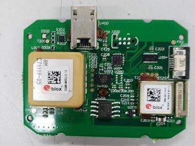 BLE/GPRS/GNSS based Hand-held GPS Tracker