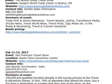 Trade Show Market Research Project