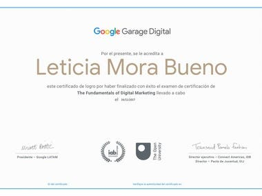 certificado fundamentos de marketing Digital por Google