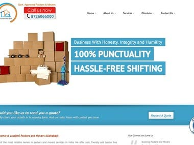 Lakshmi Packer and Movers (Business Website)