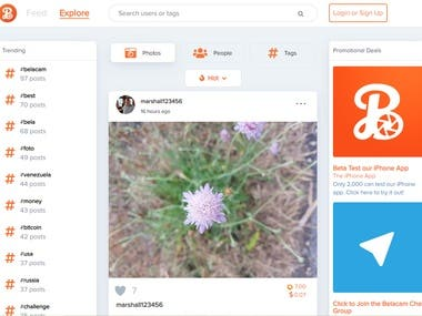 Photo sharing social platform