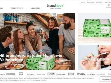 eCommerce site: order and deliver products