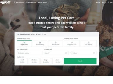 Pet care site