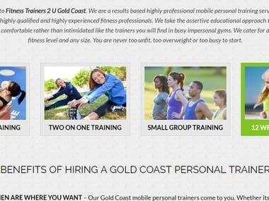 fitness site.