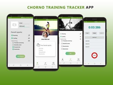 Chorno Training Tracker app