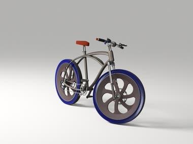 Havasız Tekerleli Konsept Bisiklet Tasarımı